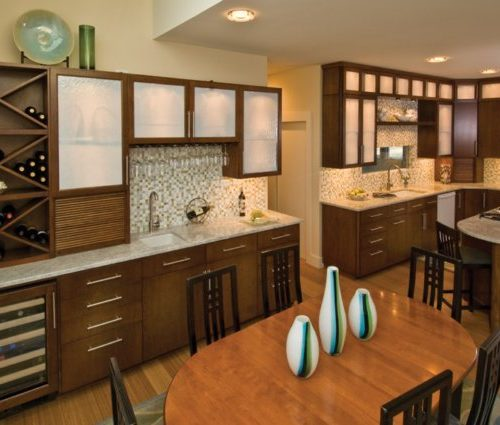 Bon Wood Accented Contemporary Styled Kitchen | CMI Construction CMI  Construction