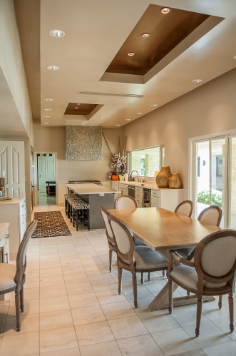Kitchen And Dining Area Shining With Natural Light