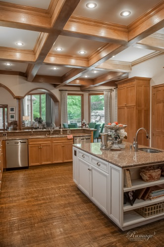 Traditional Cabinet Kitchen With Granite Island